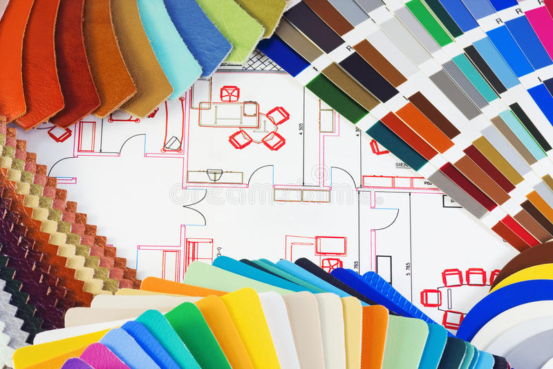 Choice of material for interior decoration royalty free stock photo