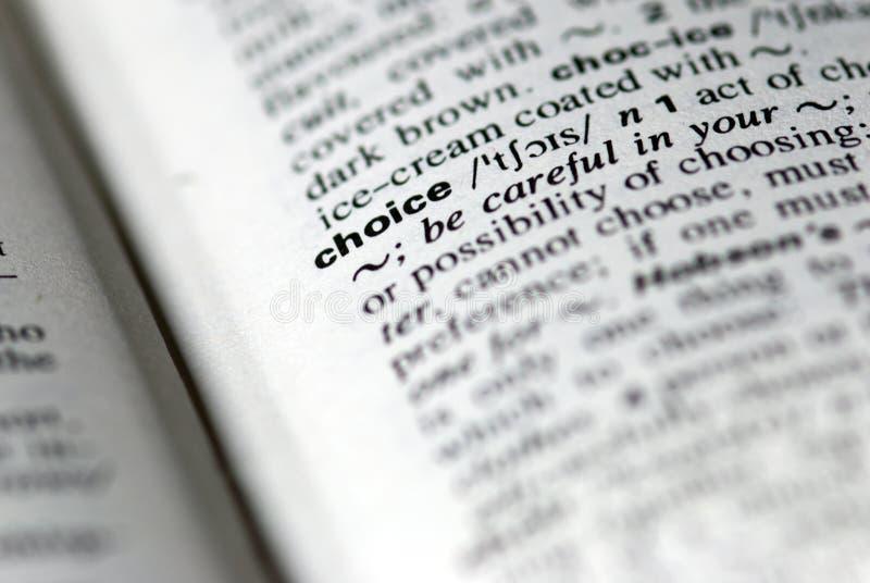 choice ord arkivfoto