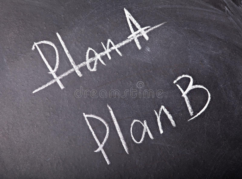 Choice plan royalty free stock photo