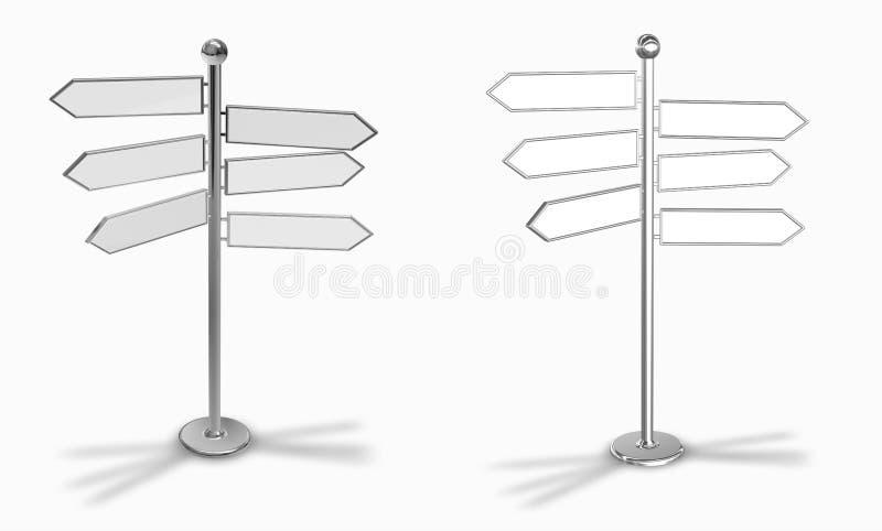 choice riktningar inställda tecken royaltyfri illustrationer