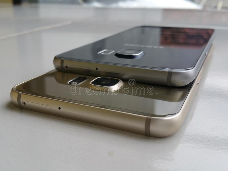 Nice Samsung S6 edge plus royalty free stock photo