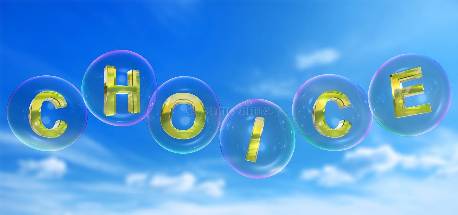 The choice word in bubble vector illustration