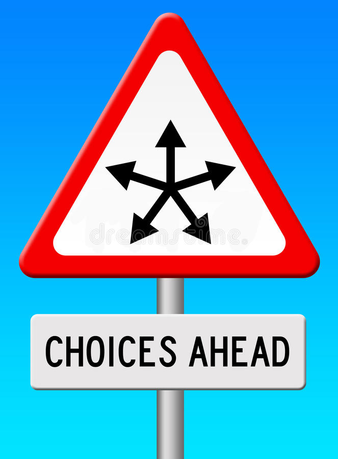 Free Choices Ahead Royalty Free Stock Image - 37902156