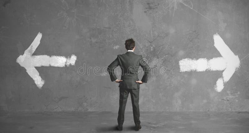 Choices of a businessman stock photos