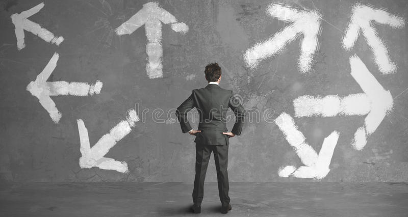 Choices of a businessman royalty free stock photography