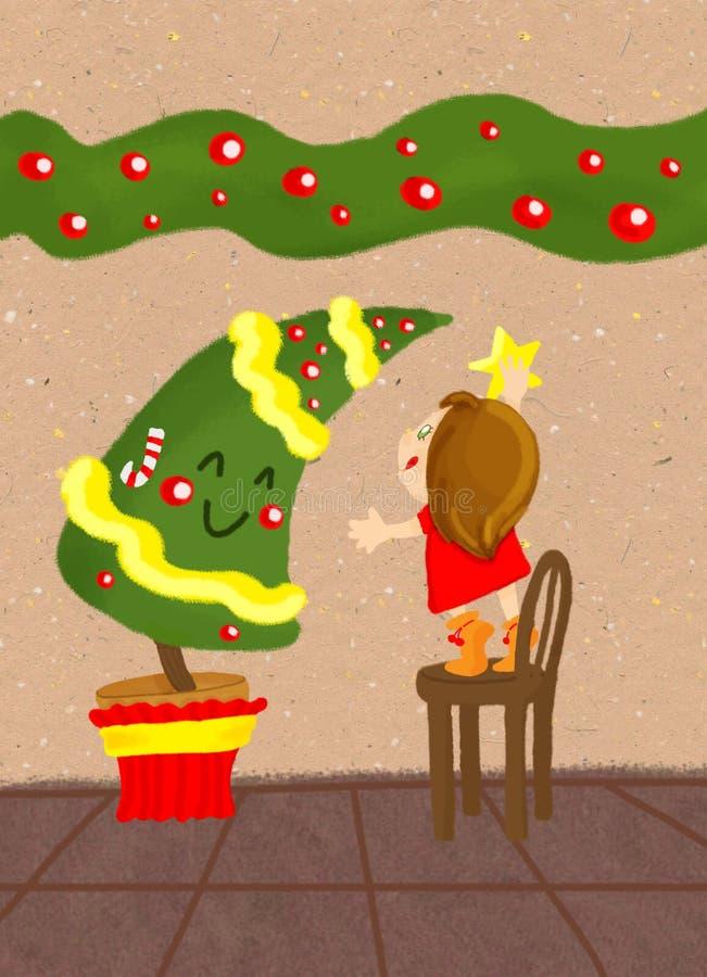 Download Choinka ilustracji. Obraz złożonej z dziecko, drzewo - 12126025