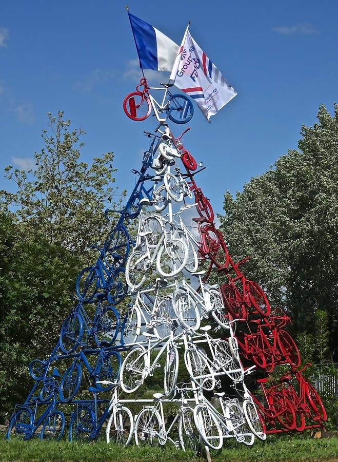 Choinka, drzewo, Bo?enarodzeniowa dekoracja, s?up zdjęcia royalty free