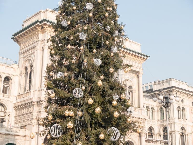 Choinka Galleria Vittorio Emanuele II zdjęcia stock