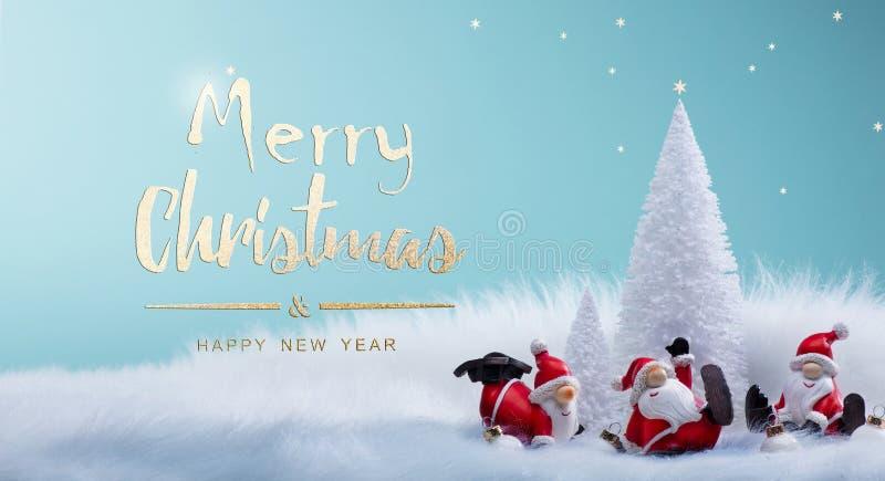 Choinka i wakacje Santa dekoraci ornamenty zdjęcie royalty free