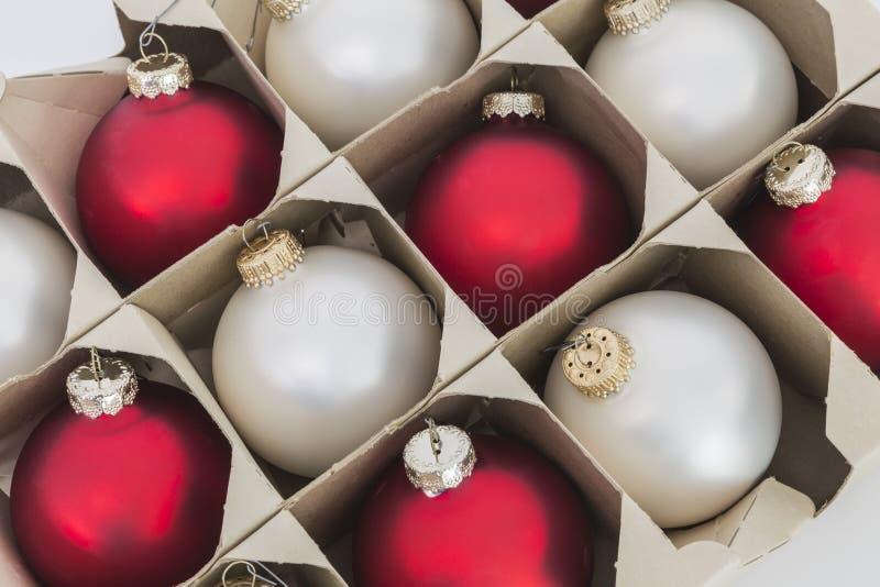 Choinka ornamentu pudełko fotografia royalty free