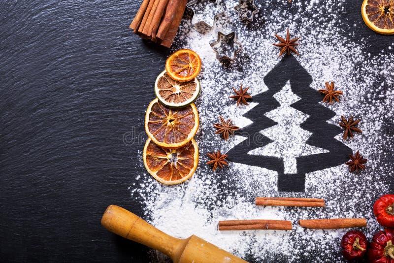Choinka robić od mąki zdjęcie royalty free
