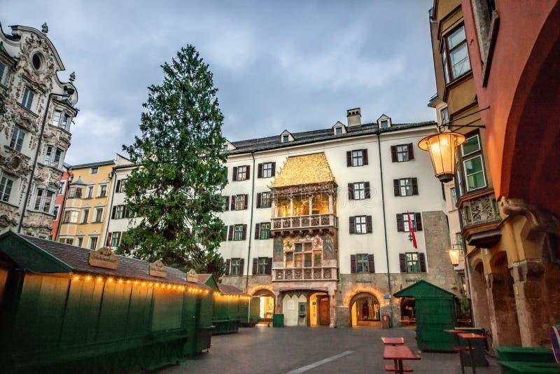 Choinka w Innsbruck obrazy royalty free