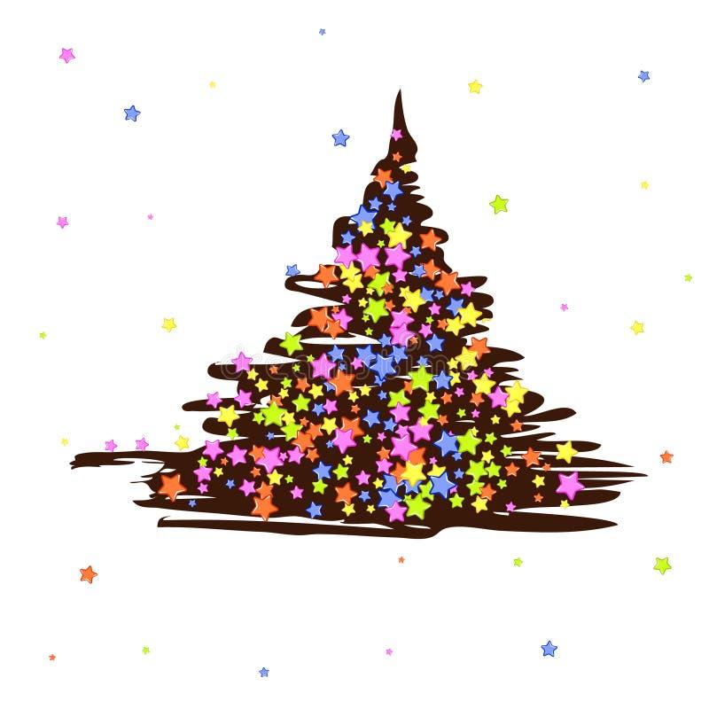 Choinki czekoladowe z słodkimi adra ilustracji