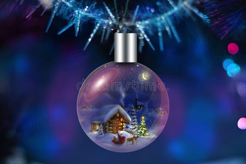 Choinki dekoracja dla bożych narodzeń i nowego roku royalty ilustracja