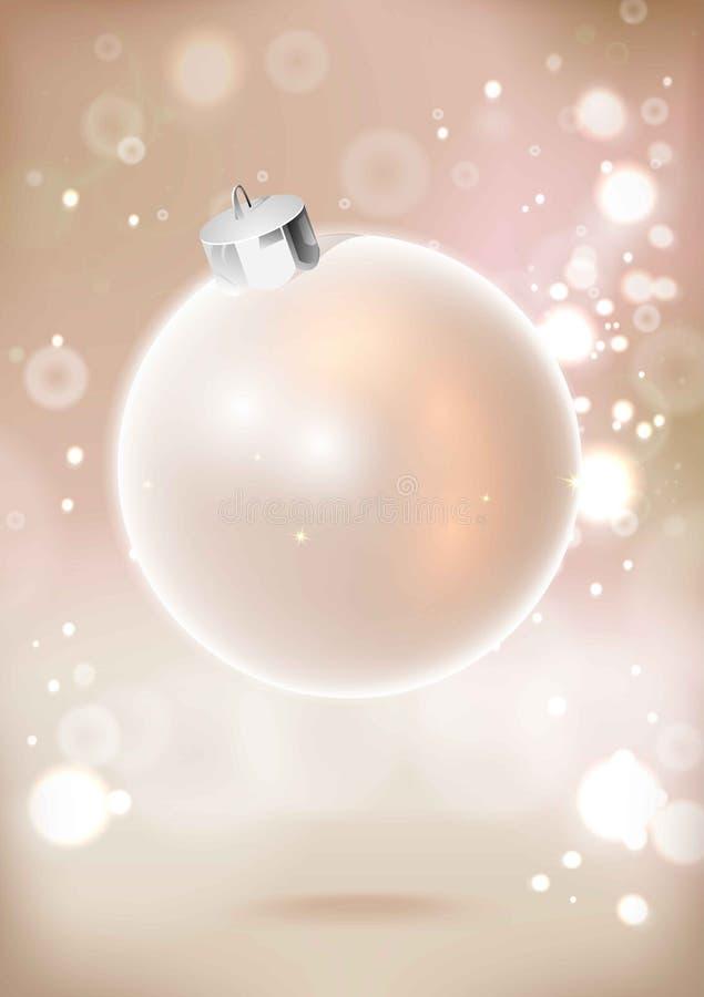 Choinki dekoracja w formie ofert menchii błyszcząca piłka royalty ilustracja