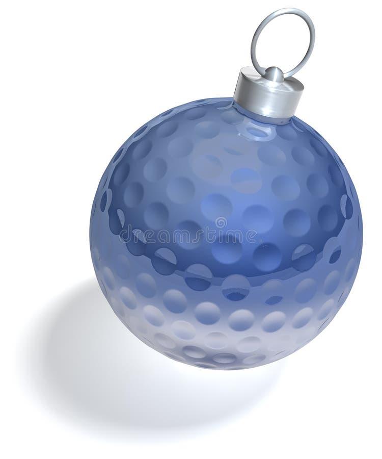 Choinki golfball balowy zmrok - błękit royalty ilustracja