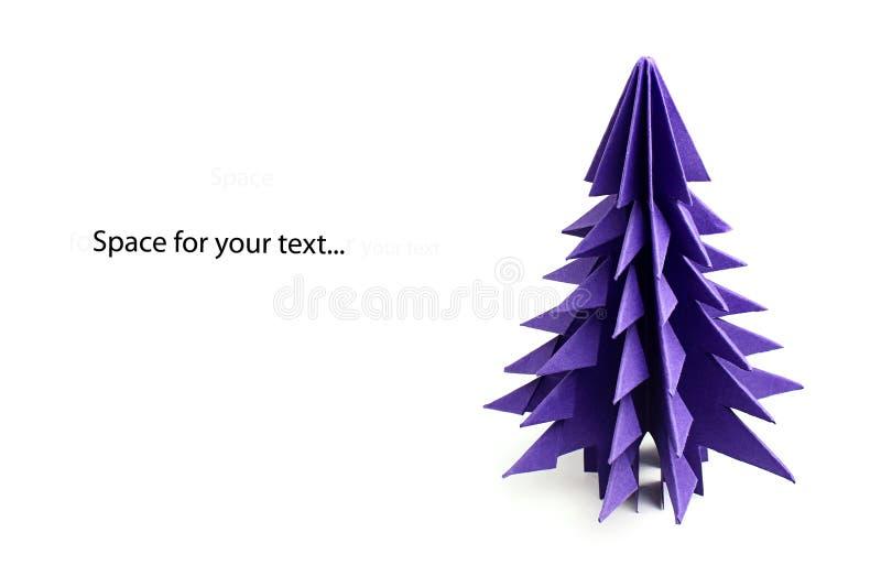 Choinki origami zdjęcie stock