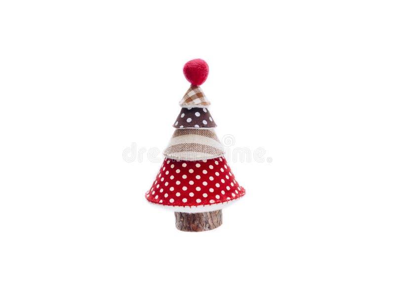 Choinki tkaniny Xmas ornamentu dekoracja Odizolowywająca zdjęcie royalty free
