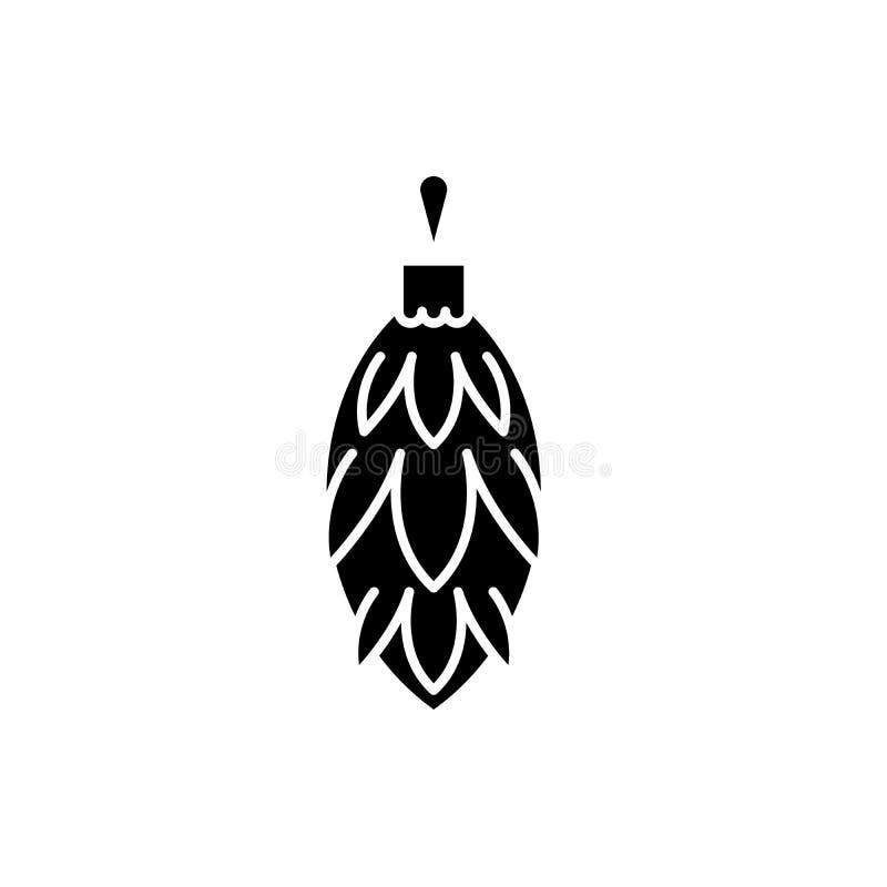 Choinki zabawki garbka czerni ikona, wektoru znak na odosobnionym tle Choinki zabawki garbka pojęcia symbol ilustracja wektor