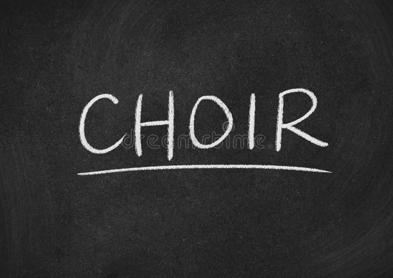 Choir. Concept word on a blackboard background royalty free stock photo