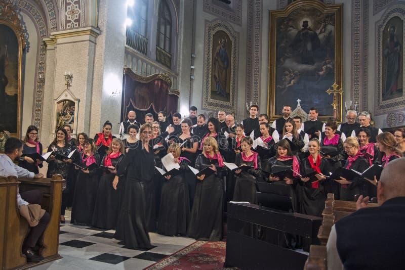 Choir in de kathedraal royalty-vrije stock foto
