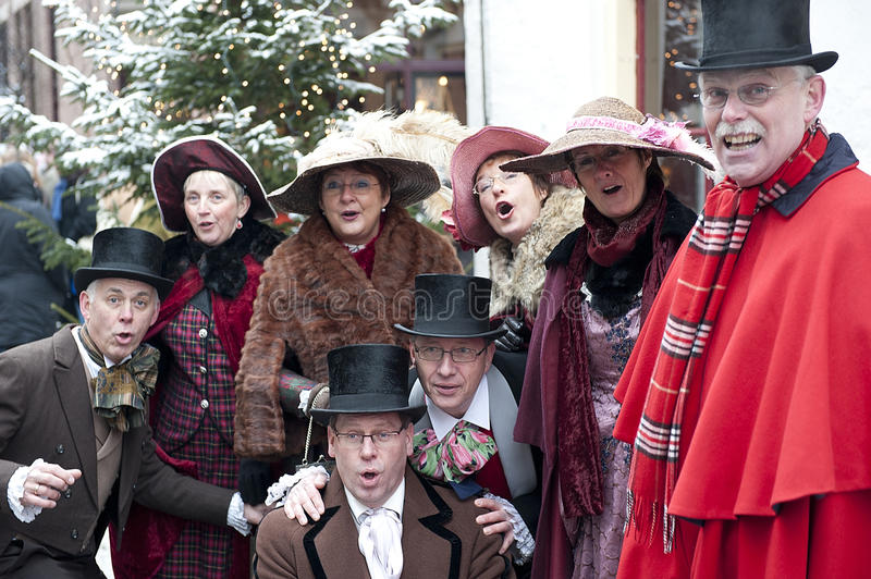 Choir in the victorian age royalty free stock image