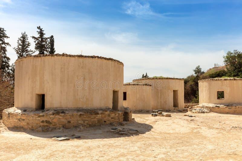 Choirokoitia的新石器时代的解决在塞浦路斯 库存图片