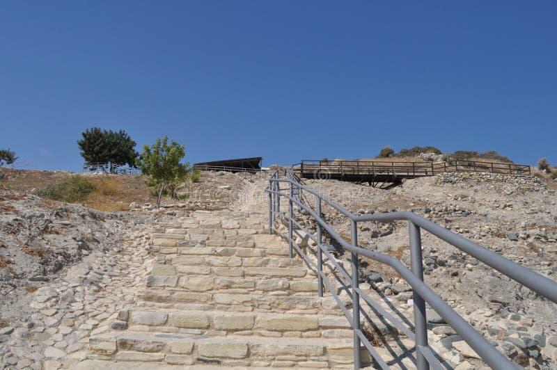 Choirokoitia Choirokoitia的新石器时代的解决 免版税图库摄影