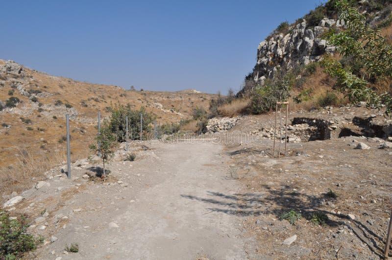 Choirokoitia Choirokoitia的新石器时代的解决 库存照片