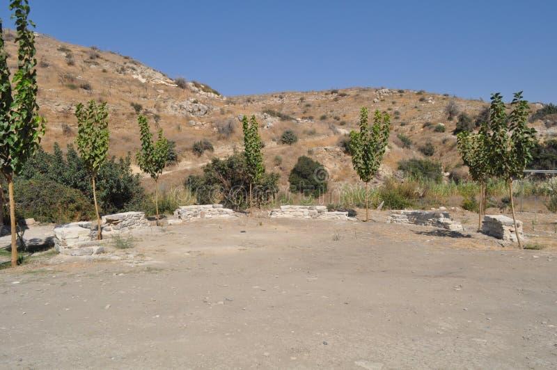Choirokoitia Choirokoitia的新石器时代的解决 库存图片