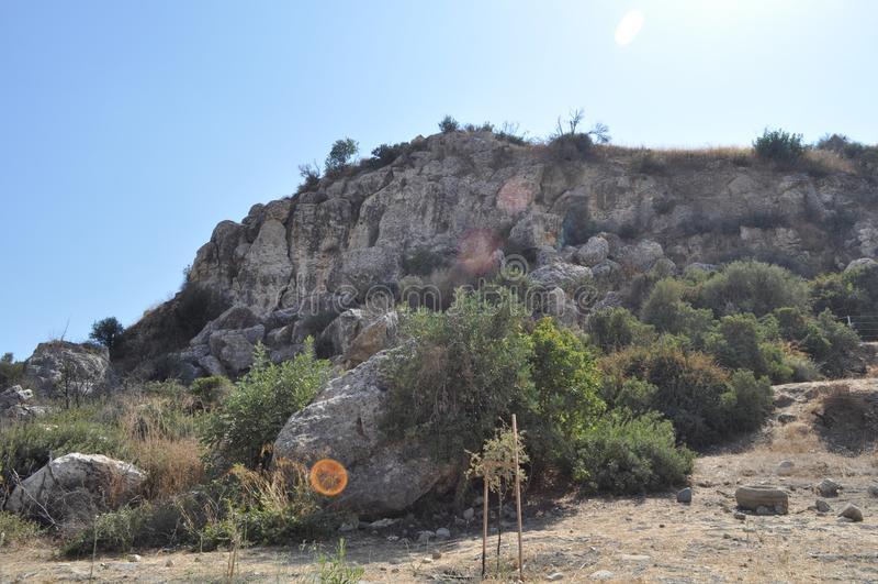 Choirokoitia Choirokoitia的新石器时代的解决 图库摄影