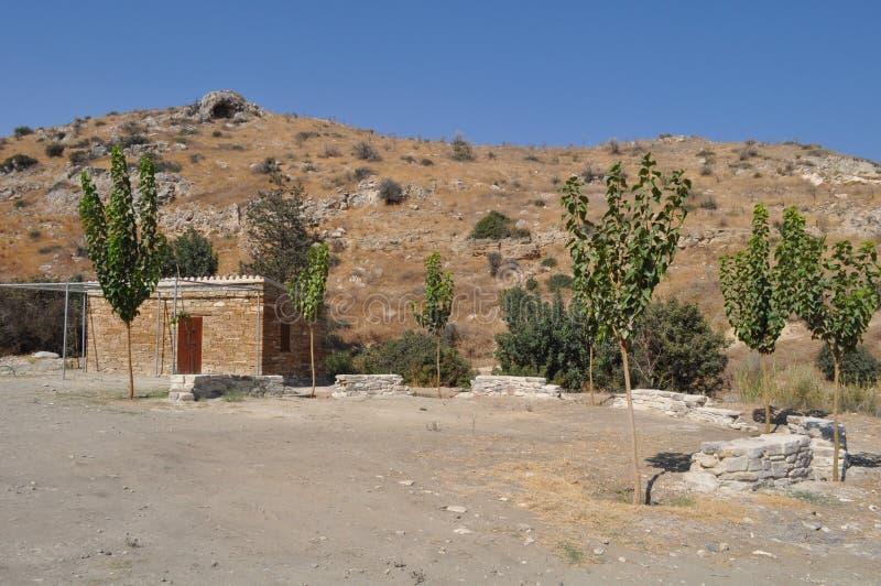 Choirokoitia Choirokoitia的新石器时代的解决 免版税库存照片