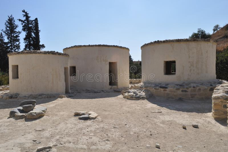 Choirokoitia Choirokoitia的新石器时代的解决 免版税库存图片