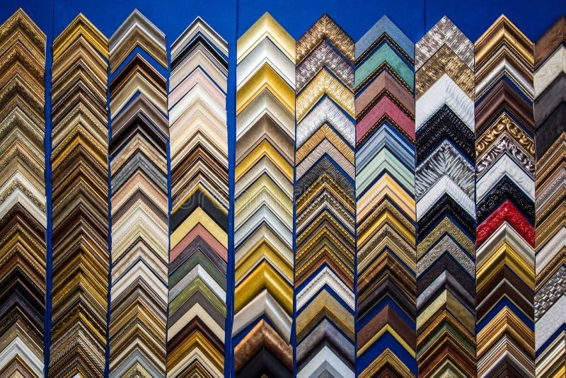 Choise de quadros da lona de pintura fotografia de stock royalty free