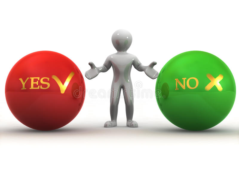 Download Choise YES Or NO Stock Photos - Image: 9466863