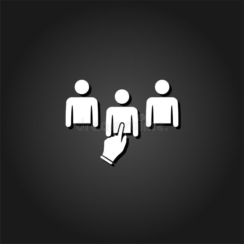 Choisi une icône à plat illustration de vecteur