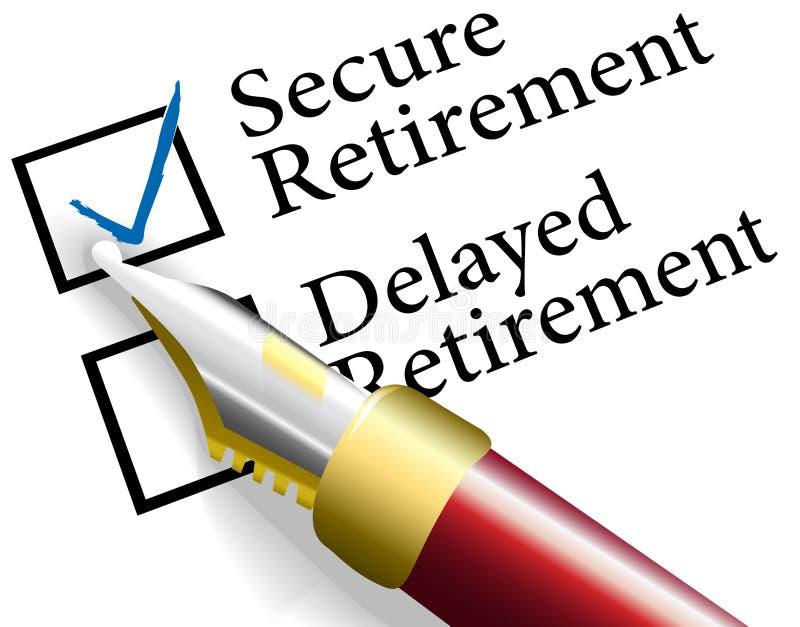 Choisissez l'investissement de retraite sûr illustration libre de droits