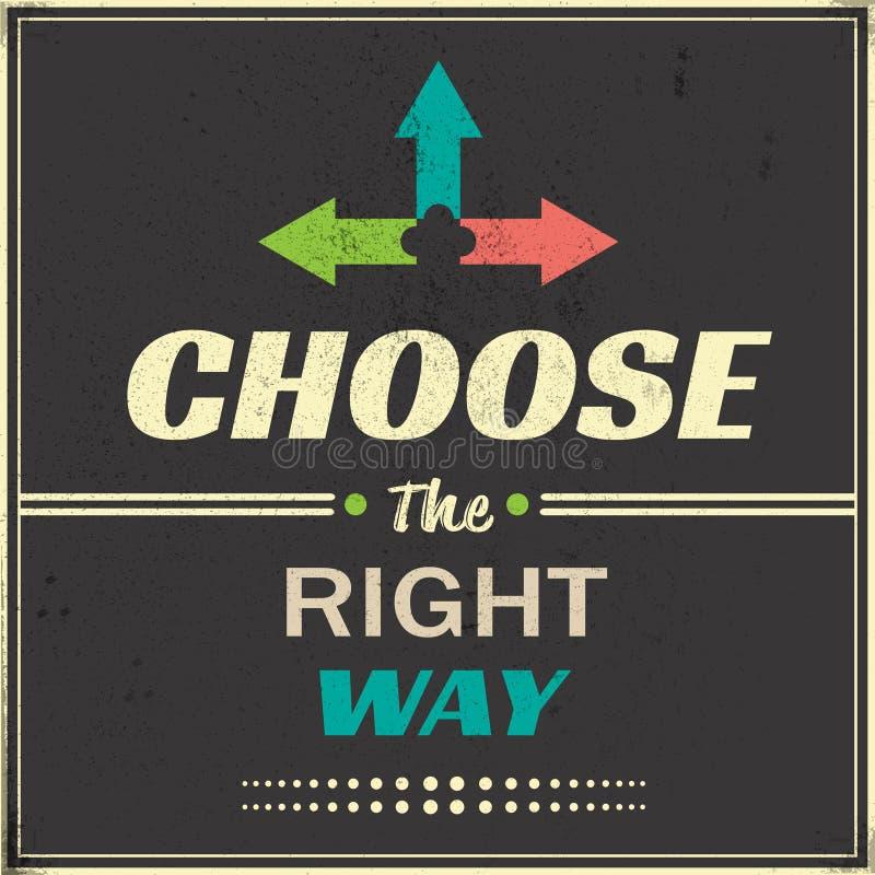 choisissez la bonne voie illustration de vecteur