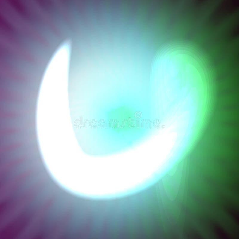 Choisissez la lettre au néon bleu-clair u de l'illustration de vecteur illustration de vecteur