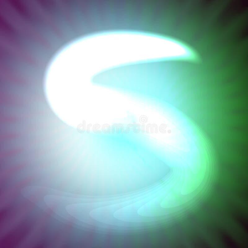 Choisissez la lettre S au néon bleu-clair de l'illustration de vecteur illustration de vecteur