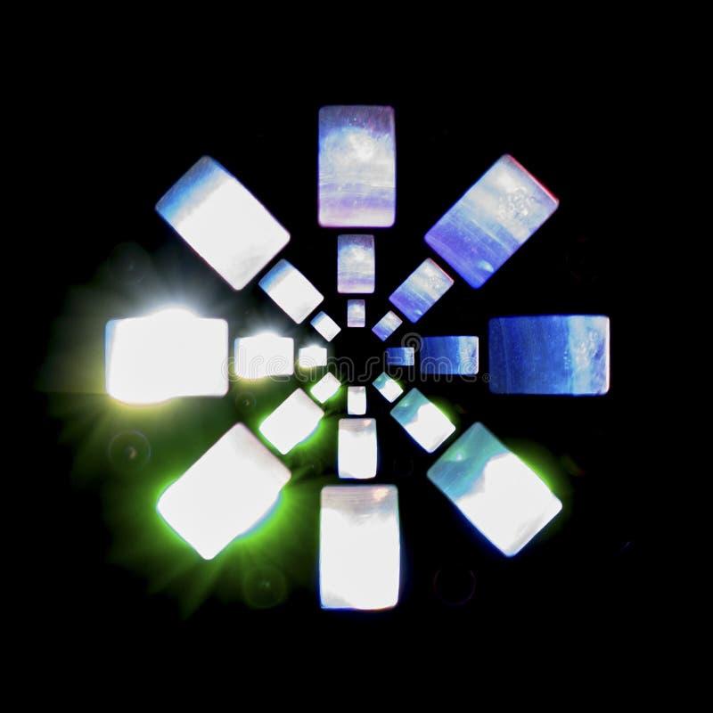 Choisissez la lumière modelée brillamment colorée de disco photos libres de droits