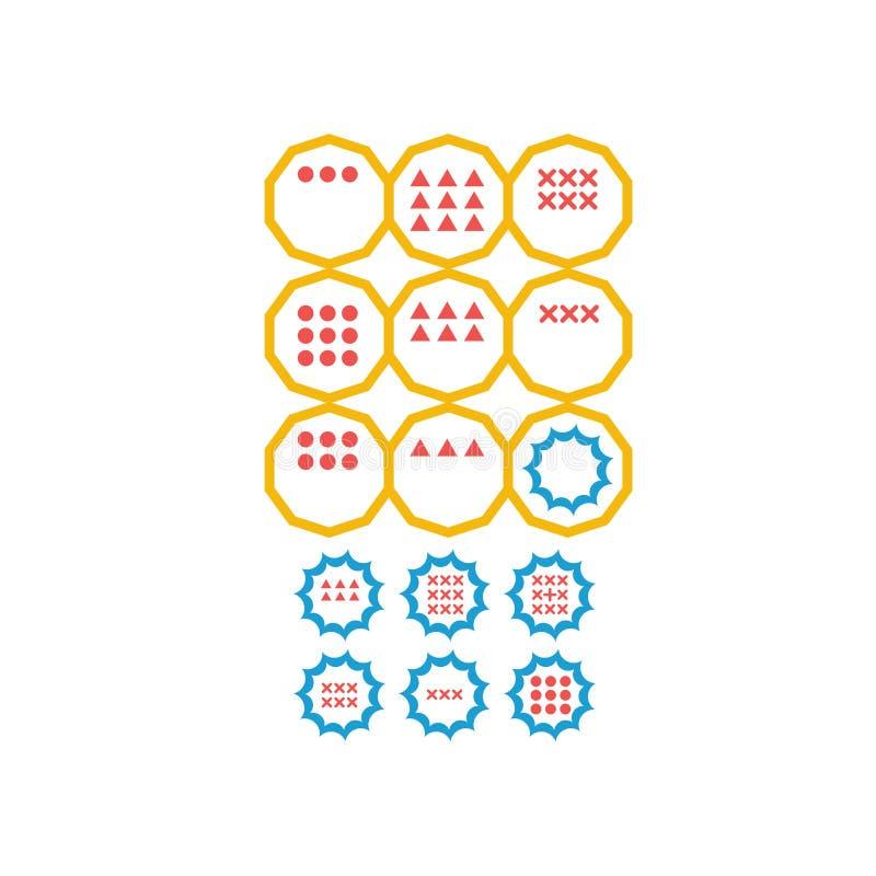Choisissez la réponse correcte Tâche logique d'essai de QI, jeu éducatif pour des étudiants développement de la logique, Q.I. Exa illustration de vecteur