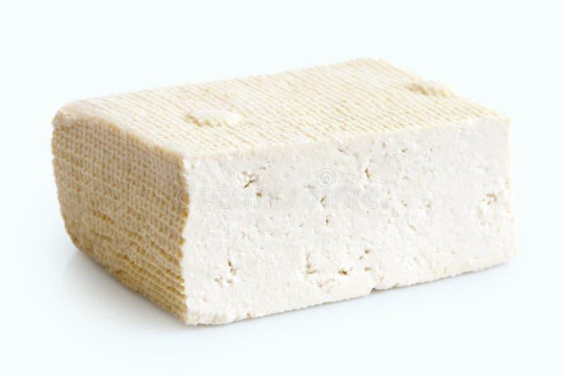 Choisissez le bloc de tofu blanc image stock