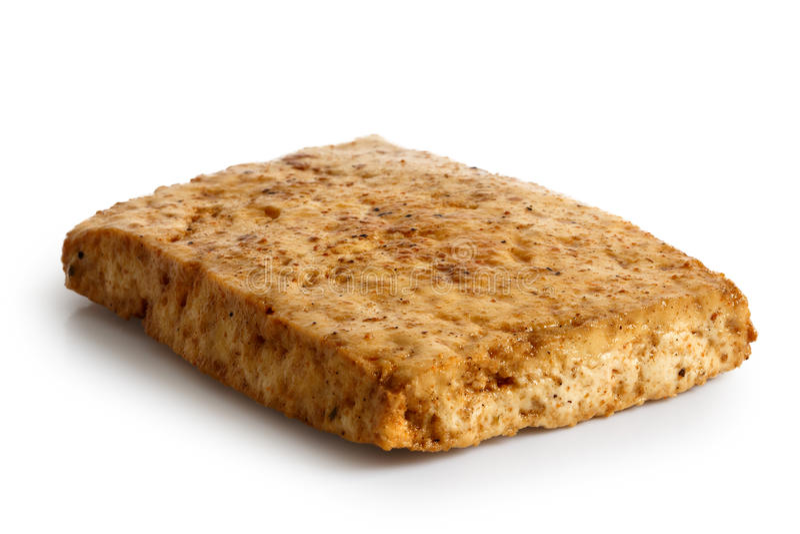 Choisissez le bloc de tofu mariné image libre de droits