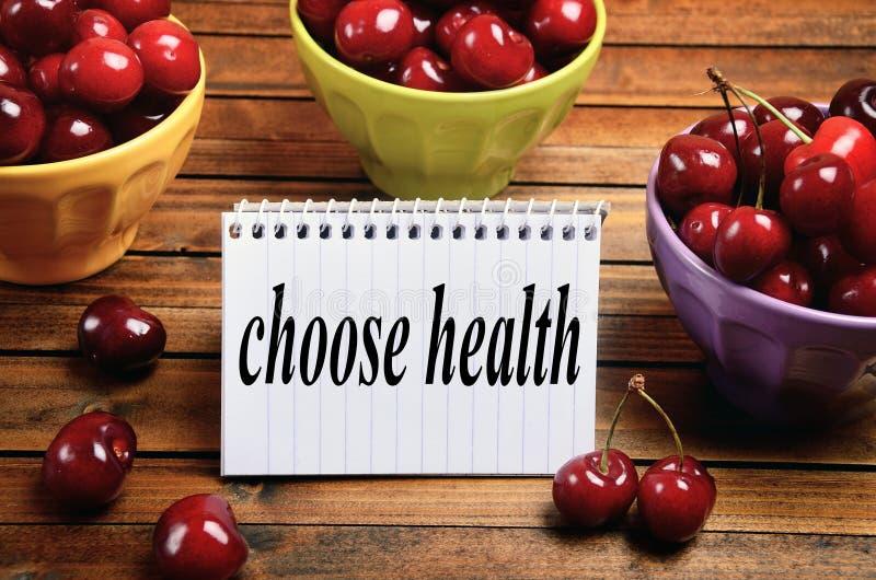 Choisissez le mot de santé photo stock