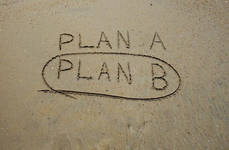 Choisissez le plan B photos libres de droits