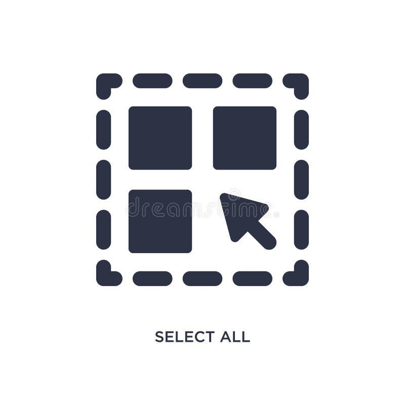 choisissez toute l'icône sur le fond blanc Illustration simple d'élément de concept de la géométrie illustration stock