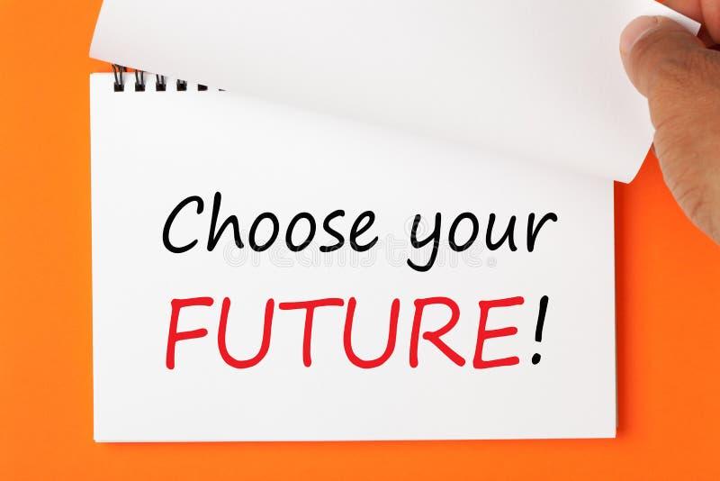 Choisissez votre contrat à terme images stock