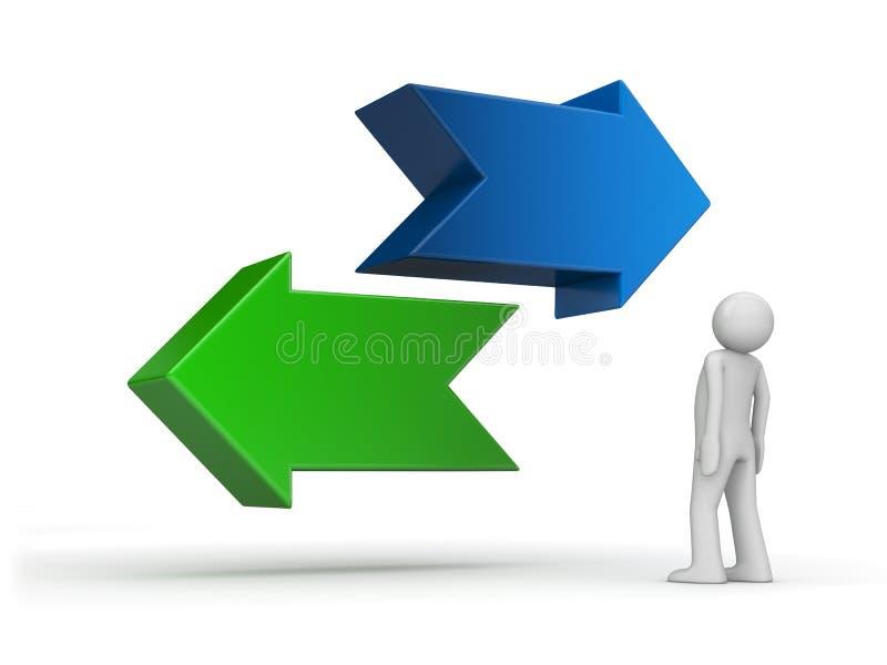 Choisissez votre voie - problème de série bien choisie illustration libre de droits