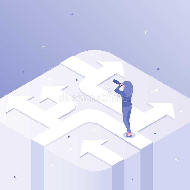 Choix d'affaires E illustration de vecteur